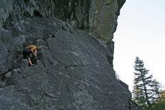 Rock Climbing Photo: Up slab at start of climb