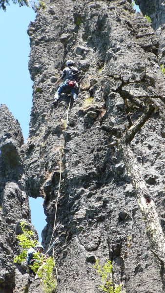Rock Climbing Photo: Mark Canavan (leading) and Shaun Coe on pitch 2 of...