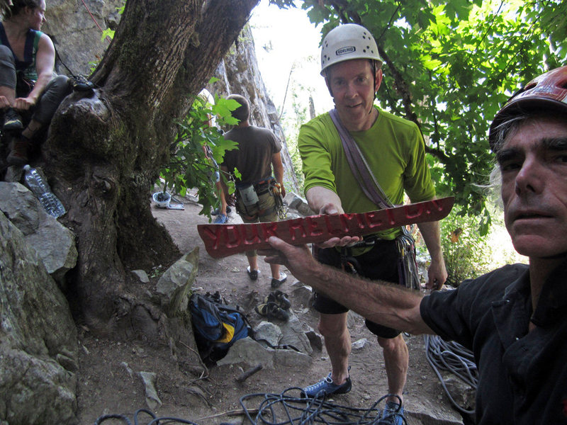 Rock Climbing Photo: Wear your helmet! Photo by Andy c.