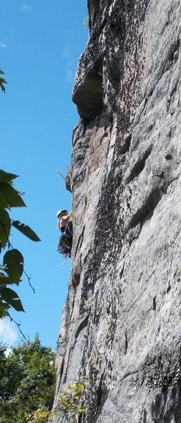 Rock Climbing Photo: KP climbing Feast of Fools as seen from the base o...