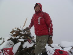 Rock Climbing Photo: On Pika peak in a September snow storm.