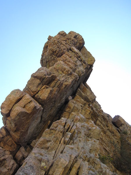 Rock Climbing Photo: Airtime is the smaller, upper/mid crack.  There's ...