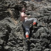 Rock Climbing Photo: Drunk soloing after Bay2Breakers