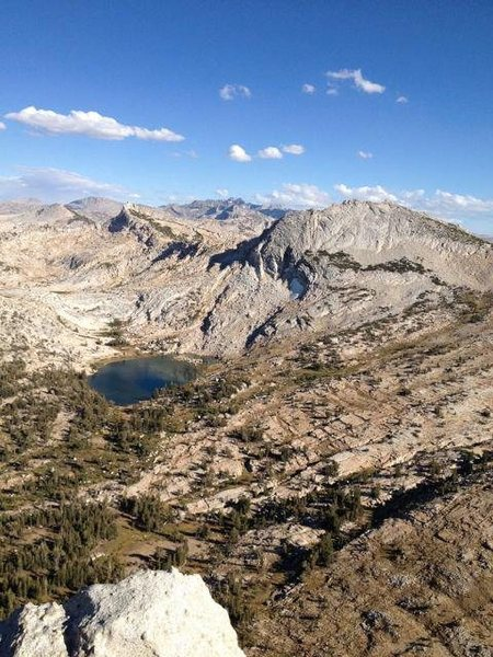 Rock Climbing Photo: View from Southeast Buttress, Cathedral Peak. Tuol...