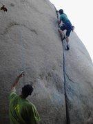 Rock Climbing Photo: Me on Robbins crack