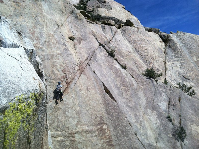 Rock Climbing Photo: Nick S. heading out on, the appropriately named, H...