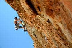 Rock Climbing Photo: Nearing the top of Fire Wall