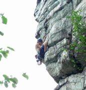 Rock Climbing Photo: High Exposure Crux