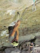 Rock Climbing Photo: Making the desperate duckbill clip on The Big Empt...