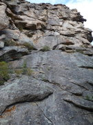 Rock Climbing Photo: Brain Freeze starts either at the ledge or climbs ...