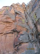 Rock Climbing Photo: Sloppy topo showing ItM route. A bit steeper than ...