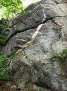 Rock Climbing Photo: Pink Stripe Wall
