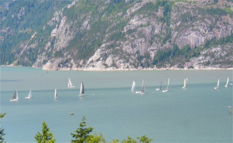 Sailboats on the Howe Sound