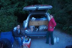 Rock Climbing Photo: Cooking in the Previa's camp kitchen