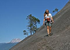 Rock Climbing Photo: Apron descent