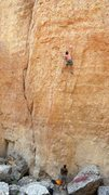 Rock Climbing Photo: Yours truly on the best 5.11 in Tensleep(?). Kate ...