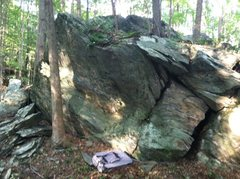 FDR Boulder 1: Blind Corner (V1-2) starts just above the crash pad.