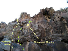 Rock Climbing Photo: Route photo - lower res, sorry.  Need to take my o...