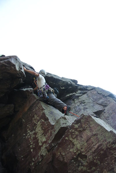 Rock Climbing Photo: Mike Sohasky working his way over the second o-han...