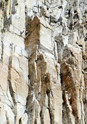 """Rock Climbing Photo: Leading p3 of """"Better Red Than Dead"""" 5.1..."""