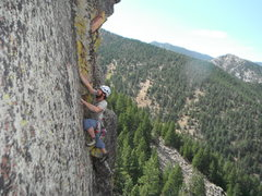 Rock Climbing Photo: Jon Griffin on the upper half on the FA.