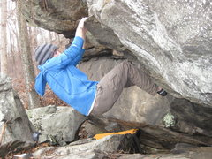 Rock Climbing Photo: Dylan Randall working the lower moves on Slabby's