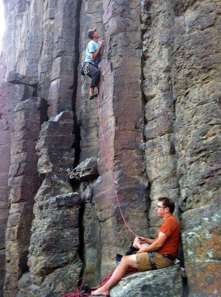 Rock Climbing Photo: Reggie on the start of Circuit Breaker
