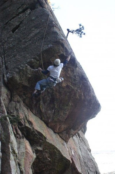 Rock Climbing Photo: Chris Bursey following on the FA.