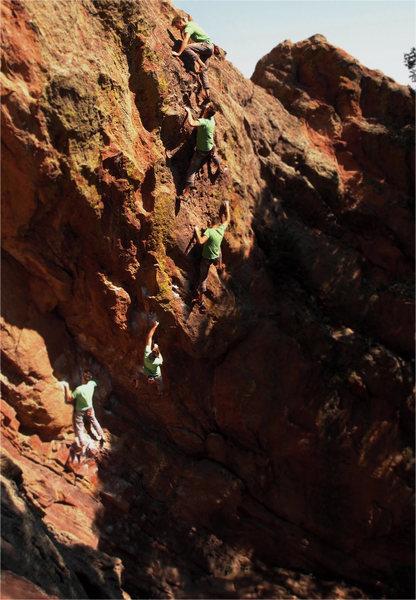 Rock Climbing Photo: A free solo of Touch Monkey by Matt Lloyd. Great f...