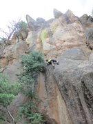 Rock Climbing Photo: Radical By Nature - John Crawley punching it throu...