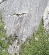 Rock Climbing Photo: Helicopter in front of the Chief, to rescue a stuc...