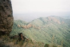 Rock Climbing Photo: Made it to the Lion's ledge