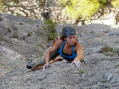 Rock Climbing Photo: P2 (5.10c) of Snot Girlz (5.10d, 7 pitches)