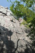 Rock Climbing Photo:  The Lost Face on a hot and humid morning, Septemb...