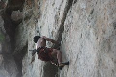 Rock Climbing Photo: going...
