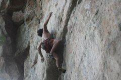 Rock Climbing Photo: GOING!