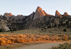 Rock Climbing Photo: A sunrise look at Steinfell's Dome and Jackson's T...