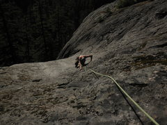 Rock Climbing Photo: Top looking down on the second pitch of Hydrotube.