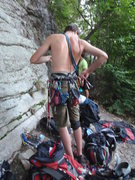 Rock Climbing Photo: A dingus with 2 cordelettes