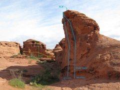 Rock Climbing Photo: Shows Suburban Mailbox, Bird Nest Traverse, and Ch...