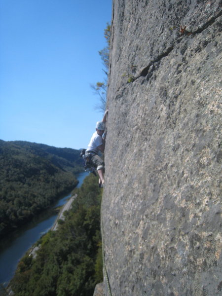 Rock Climbing Photo: second pitch of Pete's farewell