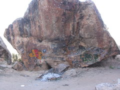 Rock Climbing Photo: A while back some graffiti showed up in Unaweep in...