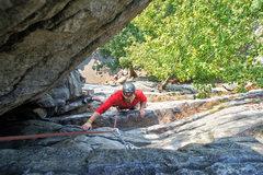 Rock Climbing Photo: Climber following Bunny.