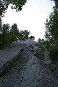 Rock Climbing Photo: das craigers walkin up pitch #1