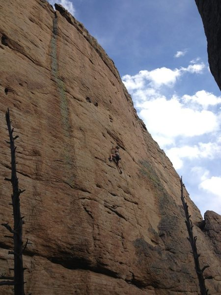Rock Climbing Photo: Allie enjoying herself.