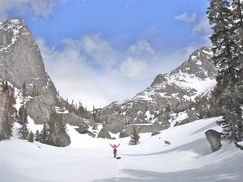 April 2012 ski trip into Deep Lake and Cirque of the Towers.  Trip report: http://rjohnasay.blogspot.com/2012/04/wind-rivers-cirque-of-towers-april-2012.html