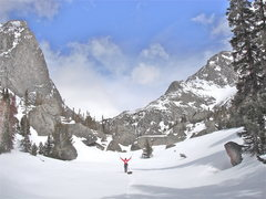 Rock Climbing Photo: April 2012 ski trip into Deep Lake and Cirque of t...