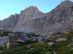 Rock Climbing Photo: South Face, Right Route follows the vertical, righ...
