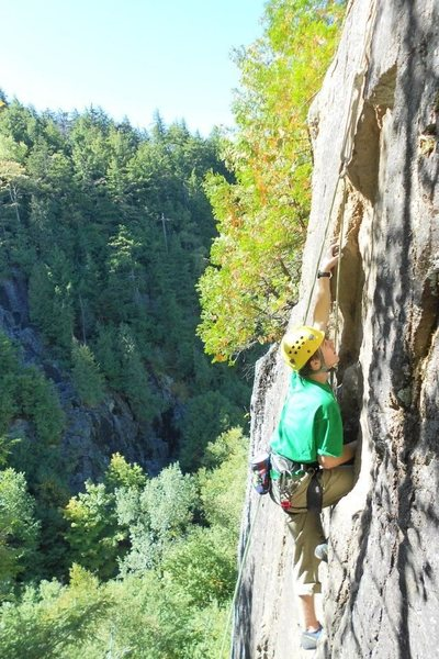 Rock Climbing Photo: Fast and Furious (5.8) Beer Walls Adirondacks