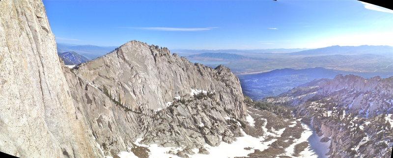 Lone Peak Cirque, tripple overhang 2012. Trip Report: http://rjohnasay.blogspot.com/2012/06/utah-lone-peak-cirque-triple-overhangs.html